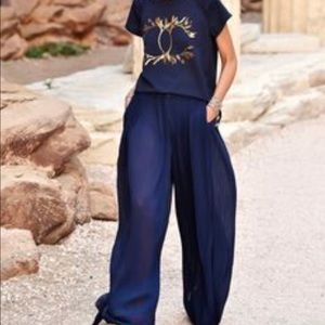 CHANEL pleated pant-Greece 2018 Cruise Collection